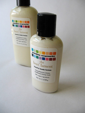 The Bees' Lament Organic Hand and Body Lotion SAMPLE SIZE - Chrysanthemum, Scarlet Leaves, Sandalwood, Honey Musk... Limited Edition