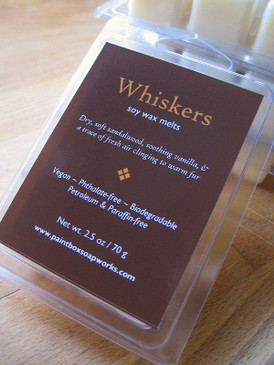Whiskers Soy Wax Melts - Dry Sandalwood, Vanilla, Fresh Air...