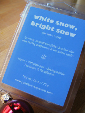 White Snow, Bright Snow Soy Wax Melts - Peppermint, Fresh Snow, Pale Vanilla... Yuletide Limited Edition