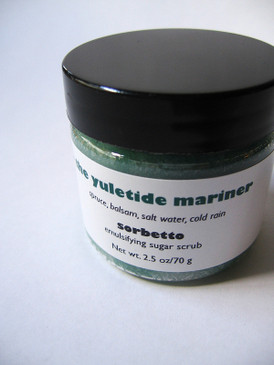 The Yuletide Mariner  Sorbetto Emulsifying Sugar Scrub SAMPLE SIZE - Spruce, Balsam, Salt Water, Cold Rain... Yuletide Limited Edition