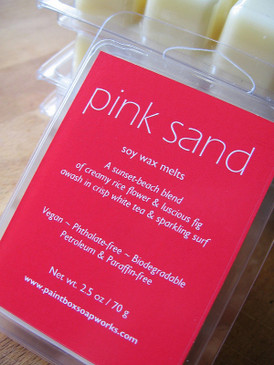Pink Sand Soy Wax Melts - Rice Flower, Fig, White Tea, Sea Spray... Limited Edition