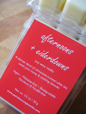 Afternoons + Eiderdowns Soy Wax Melts - Clementine, White Tea, Honey, Lavender