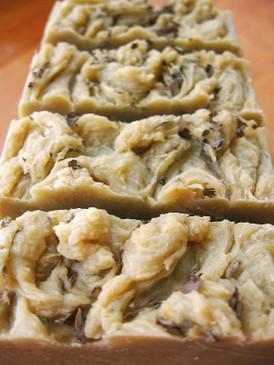 The Summer House Hot Process Soap - Fresh Zucchini, Buttermilk, Late Summer Herbs... Coconut-Free Formula