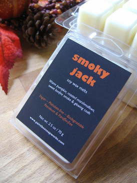 Smoky Jack Soy Wax Melts - Pumpkin, Roasted Marshmallow, Wood Smoke... Limited Edition