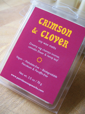 Crimson and Clover Soy Wax Melts - Nag Champa, Cannabis Flower, Hemp... Limited Edition