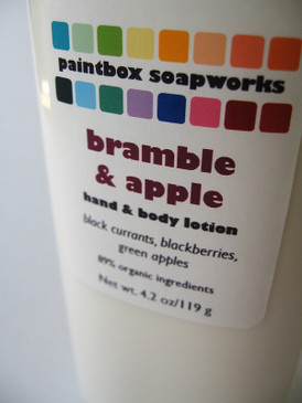 Bramble and Apple Organic Hand and Body Lotion - Black Currant, Blackberry, Green Apple.. Limited Edition