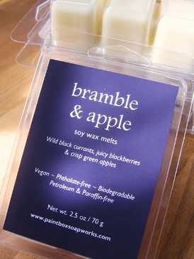 Bramble and Apple Soy Wax Melts - Black Currant, Blackberry, Green Apple.. Limited Edition