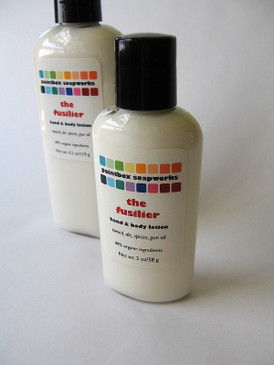 The Fusilier SAMPLE SIZE Organic Hand and Body Lotion - Wool, Beer, Spices, Gun Oil...
