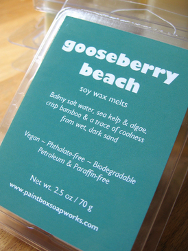 Gooseberry Beach Soy Wax Melts - Salt Water, Kelp, Bamboo... Limited Edition