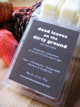 Dead Leaves on the Dirty Ground Soy Wax Melts - Dry Leaves, Bonfire Smoke, Frost... Limited Edition