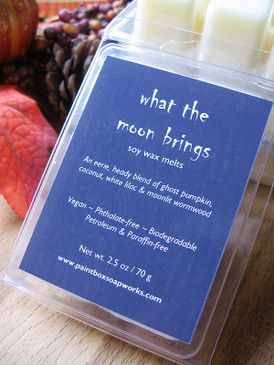 What the Moon Brings Soy Wax Melts - Ghost Pumpkin, Coconut, White Lilac, Wormwood... Weenie Limited Edition