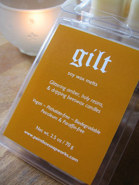 Gilt Soy Wax Melts - Amber, Resins, Beeswax Candles... Yuletide Limited Edition