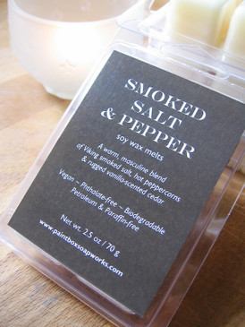 Smoked Salt and Pepper Soy Wax Melts - Wood Smoke, Peppercorns, Cedar... Limited Edition