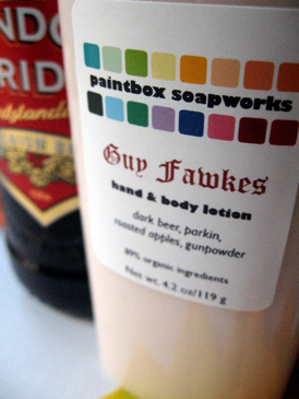 Guy Fawkes Organic Hand and Body Lotion - Dark Beer, Parkin, Roasted Apples, Gunpowder... Weenie Limited Edition