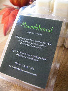 Moundshroud Soy Wax Melts - Grave Loam, Patchouli, Leather, Licorice... Weenie Limited Edition