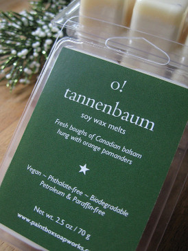 O! Tannenbaum Soy Wax Melts - Fresh Christmas Trees, Orange & Clove... Yuletide Limited Edition
