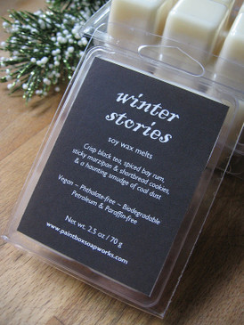 Winter Stories Soy Wax Melts - Tea, Bay Rum, Marzipan, Coal Dust... Yuletide Limited Edition
