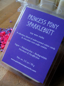 Princess Pony Sparklebutt Soy Wax Melts - Violet, Cotton Candy, Chocolate Mint Wafer Cookies...