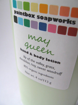 May Queen Organic Hand and Body Lotion - Lily of the Valley, Grass, Dandelion, Hay, Sweet Woodruff... Spring Limited Edition