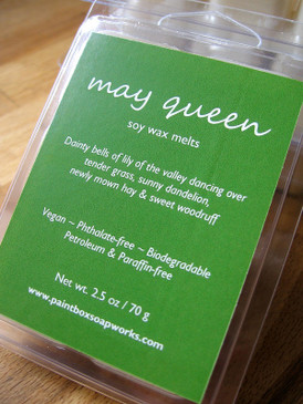 May Queen Soy Wax Melts - Lily of the Valley, Grass, Dandelion, Hay, Sweet Woodruff... Spring Limited Edition
