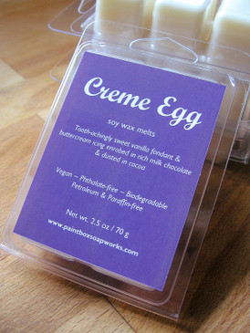 Creme Egg Soy Wax Melts - Milk Chocolate, Cocoa, Sugary Fondant, Buttercream... Spring Limited Edition