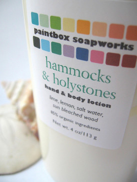 Hammocks & Holystones Organic Hand and Body Lotion - Lime, Lemon, Salt Water, Sun Bleached Wood... Summer Limited Edition