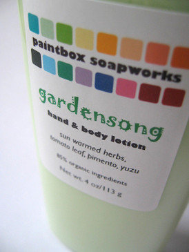 Gardensong Organic Hand and Body Lotion - Sun Warmed Herbs, Tomato Leaf, Pimento, Yuzu... Summer Limited Edition