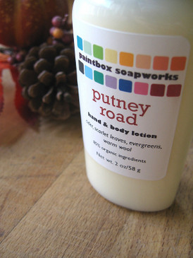 Putney Road SAMPLE SIZE Organic Hand and Body Lotion - Apple Cider, New England Woods, Wool Sweaters... Weenie Limited Edition