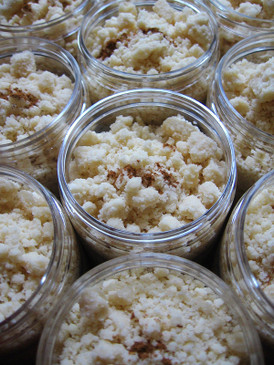 Rice Pudding Bath Streusel - Aromatic Rice, Cinnamon, Vanilla, Condensed Milk...
