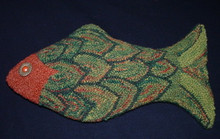 Punch hooked by Angela Jones.  Punch hooked with hand dyed wool rug yarn and turned into a pillow.