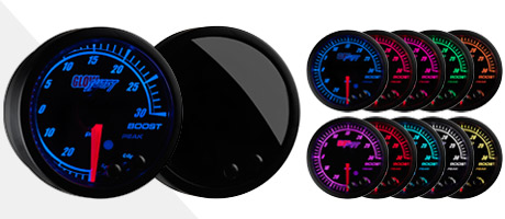 Black Elite 10 Color Gauge Series