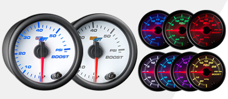 White 7 Color Gauge Series
