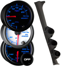 1995-2000 Subaru Impreza Custom 7 Color Gauge Package Gallery