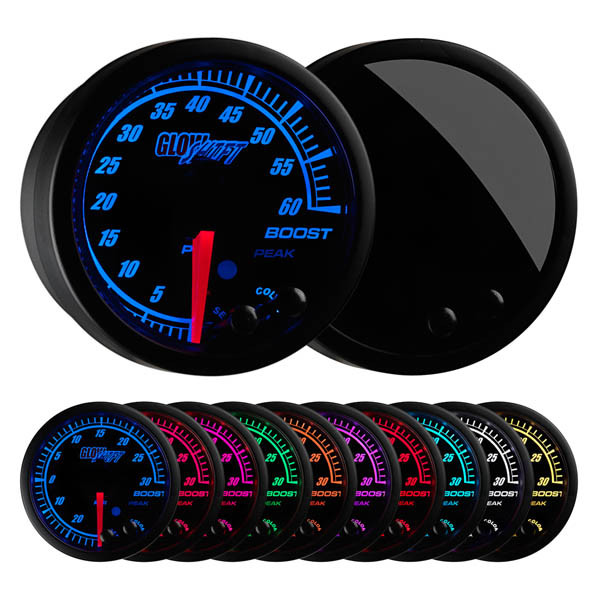 Elite 10 Color Electronic 60 PSI Boost Gauge