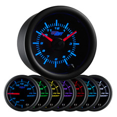Black 7 Color Analog Clock Gauge