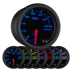 Black 7 Color High Pressure Oil Pressure HPOP Gauge