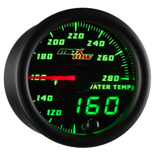 Black & Green MaxTow Water Temperature Gauge