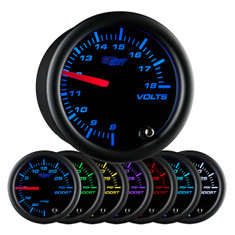 Black 7 Color Volt Gauge