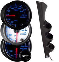 2000-2005 Mitsubishi Eclipse Custom 7 Color Gauge Package Gallery