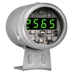 Silver Digital Tachometer & Green LED Shift Light