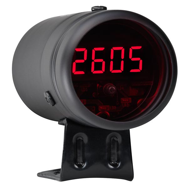 Black Digital Tachometer  U0026 Red Led Shift Light
