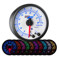 White Elite 10 Color Volt Gauge