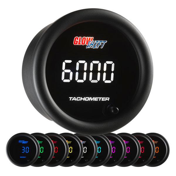 10 Color Digital Tachometer Gauge
