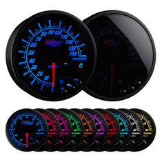 "Elite 10 Color 3 3/4"" In Dash Speedometer Gauge"