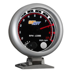 "Tinted 3 3/4"" Tachometer Gauge w/ Shift Light"