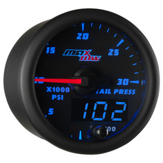 Black & Blue MaxTow 30,000 PSI Fuel Rail Pressure Gauge