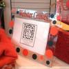Black and Orange Personalized Acrylic Frame