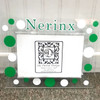 Green and White Personalized Acrylic Frame
