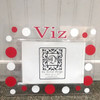 Red and White Personalized Acrylic Frame