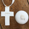 Personalized Clay Blessing Bowl and Cross